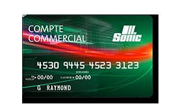 Carte de crédit commerciale Sonic